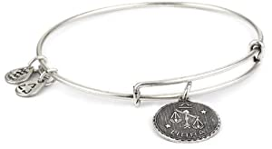 "Alex and Ani ""Bangle Bar"" Rafaelian Silver Finish Libra Bracelet"