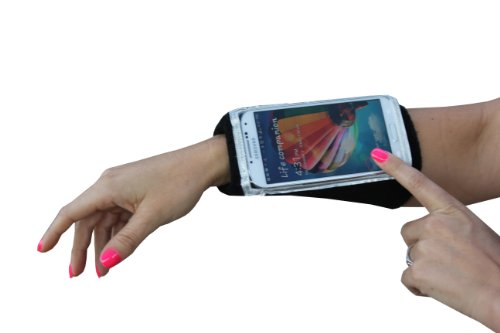 Armband: MyBand armband sleeve for iPhone 6, Galaxy S6, S6 Edge, or similar in size. Multi use for running, gym, sports, etc. Easy access to touch screen for tracking, texts, calls with zipper pocket