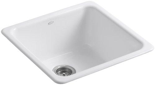 KOHLER K-6587-0 Iron/Tones Self-Rimming Undercounter Kitchen Sink, White (Kohler Iron Tones compare prices)