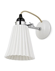 Original BTC Hector Pleat Wall Light