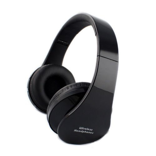 Perfect.Deal-Store Foldable Bluetooth Wireless Stereo Hands-Free Headset Microphone Black Pd