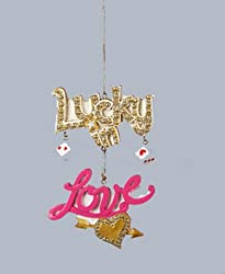 4.5&quot; Fashion Avenue Lucky in Love Las Vegas Dice Christmas Ornament