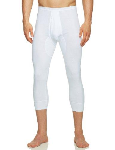 Schiesser Herren Lange Unterhose 005132-100, Gr. 6 (L), Weiß (100-weiss)