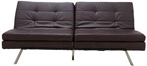 Gold Sparrow Memphis Dark Brown Double Cushion Futon Sofa Bed