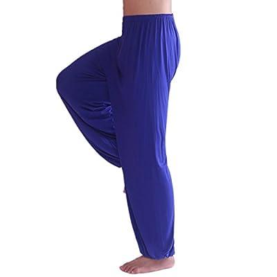 Voglee Men's Super Soft Modal Spandex Harem Yoga Pilates Pants