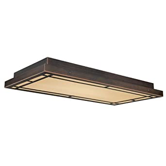 vaxcel oak park flush mount 24w in sienna bronze ceiling pendant fixture. Black Bedroom Furniture Sets. Home Design Ideas