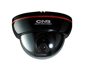 DFL20S CNB Super HIGH resolution of 600 TV Lines (DVD quality) Color Dome Video Surveillance Security Camera, Black Case