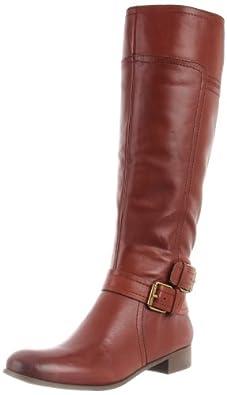 (快抢)Nine West 玖熙 时尚美女真皮长筒靴 黑 Shiza Knee-High Boot $75.73