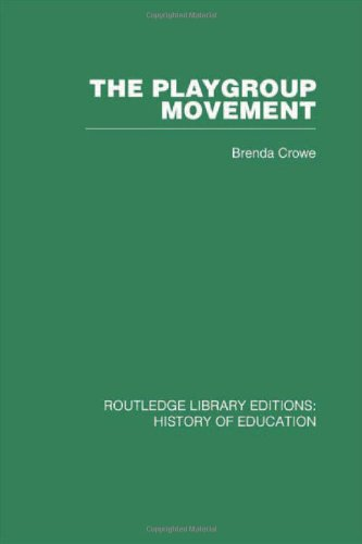 History Of Education: The Playgroup Movement (Volume 3) front-797790