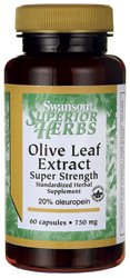 Olive Leaf Extract Super Strength 750 mg 60 Caps (Oil Leaf Extract compare prices)