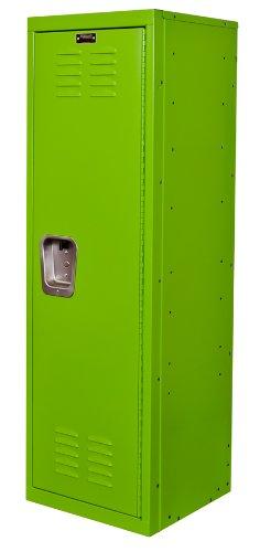 """Hallowell Kid Locker, 15""""W X 15""""D X 48""""H, 1134 Sour Apple (Green), Single Tier, 1-Wide, Knock-Down front-143235"""