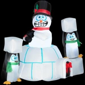 Christmas decoration lawn yard inflatable for Animated snowman decoration