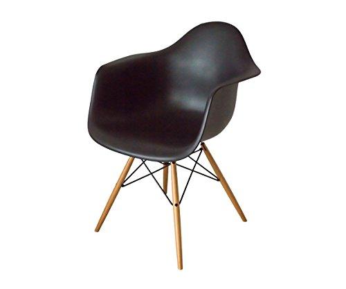 Vitra Stuhl Daw schwarz aus der Eames-Plastic-Armchair-Kollektion