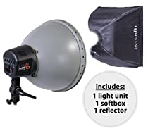 Interfit INT116 Super Coolite 5 with Reflector, 24-Inchx 24-Inch Softbox and 5 28 (Black)