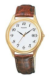 Pulsar by Seiko Three-Hand Brown Leather Men's watch #PXD122S
