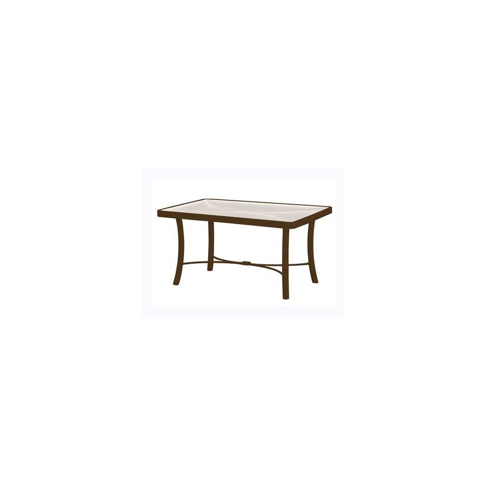Acrylic & Glass Cast Aluminum 24 x 36 Rectangular Patio Coffee Table