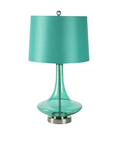 Surya Amani Table Lamp, Transparent Teal