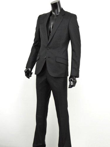 スーツ メンズ スリム 3ピース ドレススーツ フォーマル キレイめ 紳士服 ビジネス 黒 トラッド V260218-04 黒(1) Y6(L)