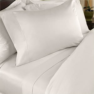 Egyptian Bedding 800 Thread Count Egyptian Cotton 800TC Sheet Set, King, Ivory Solid 800 TC