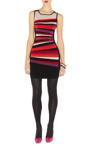 Pannelled Stripe Bodycon Dress