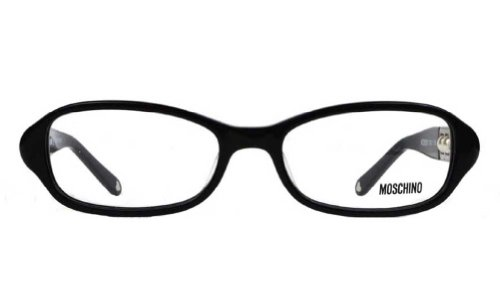 Moschino Moschino Women's MO 050 Black (01) Frame Clear Lens Full Rim Eyeglasses 52mm