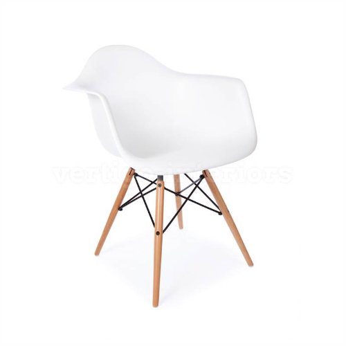 White Wood Chair front-1074501