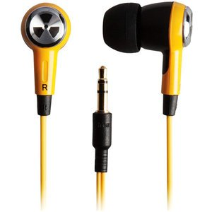Ifrogz Ozone Earbuds Yellow/Black In-Ear Headphones With Inline Microphone