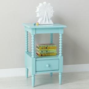 Cheap Kids Nightstand: Kids Light Blue Spindle Nightstand (B008JGCIZC)