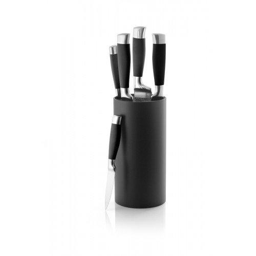 blocco coltelli/ - porta coltelli Coninx - blocco portacoltelli Tila - Set di coltelli nero - Coltello Blocco 11cm x 11cm xc 22,5cm