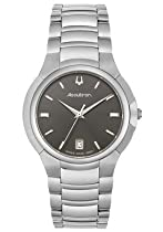 Accutron by Bulova Torino Stainless Steel Mens Watch Date Grey Dial 26B11