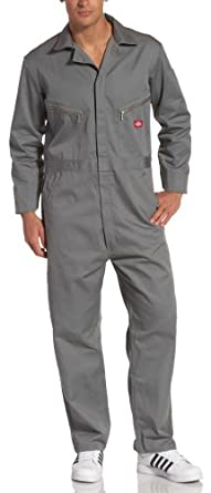 Dickies Men's 7 1/2 Ounce Twill Deluxe Long Sleeve Coverall, Gray, Small Regular