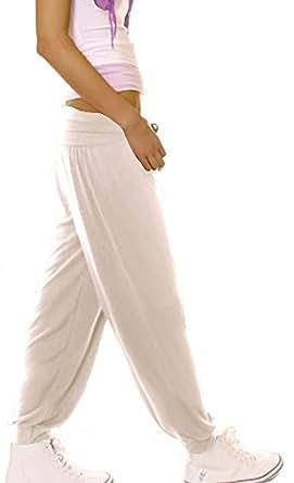 bestyledberlin Pantalon de sport femme jogging bouffant neuf T. 36/S - 38/M sarouel beige