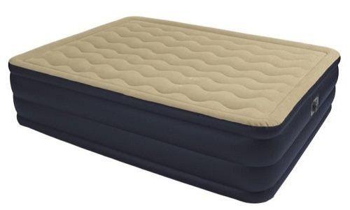 New Intex-67709E Queen Ultra Plush Air Bed Raised Airbed Mattress & Pump Kit