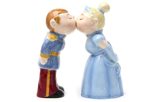 Salt & Pepper Shakers Set - ROYAL COUPLE New Ceramic Kitchen Gifts 8352