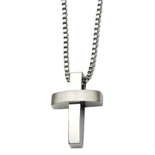Men's Stainless Steel Cross Pendant