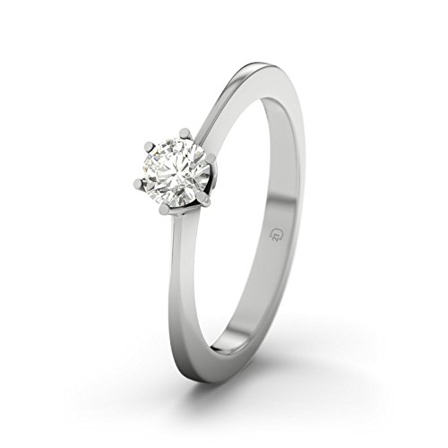 21DIAMONDS Women's Ring Himalaya SI1 0.25 ct Brilliant Cut Diamond Engagement Ring, 9ct White Gold Engagement Ring
