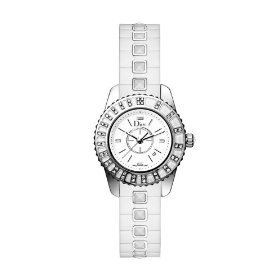 Christian Dior Women's CD113112R001 Christal White Diamond Dial Watch