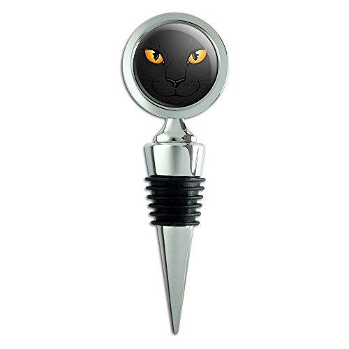 Black Cat Face Wine Bottle Stopper
