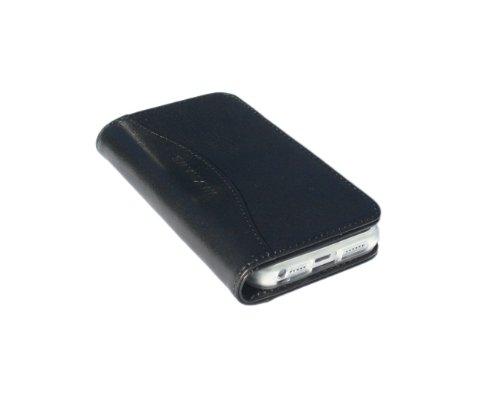 Best Price Waxhaws Full Grain Belting Leather iPhone 5 5s 5c Wallet (Matte Black)