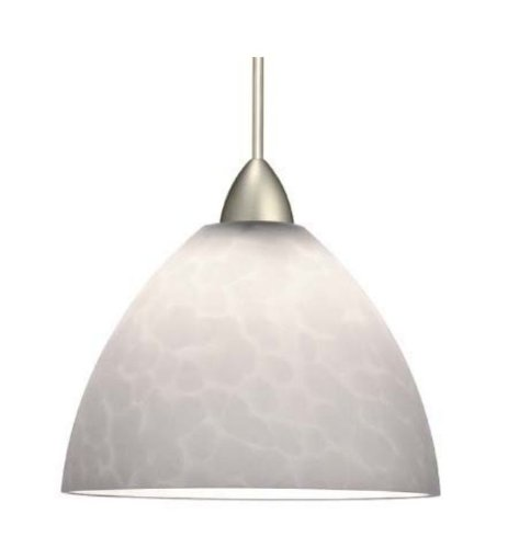 WAC Lighting  HM541WTPT Feberge  One Light Pendant, Platinum Finish with White Glass