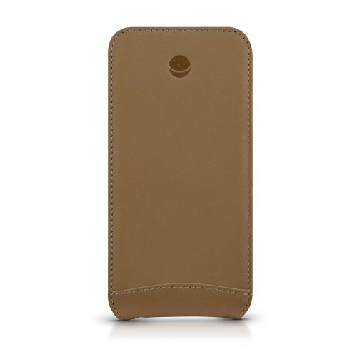 Beyzacases Classic Folio Leather Case for iPhone 5 - Camel Black Friday & Cyber Monday 2014