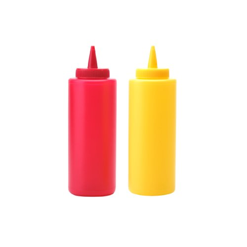 Farberware Bbq Ketchup And Mustard Plastic Bottles front-219770