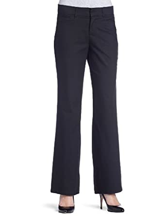 Dockers Women's Petite Metro Trouser Pant,Black,6