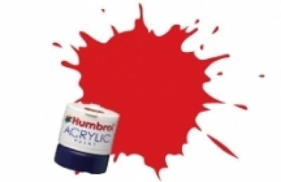 Humbrol Acrylic Paint, Virgin Red - 1