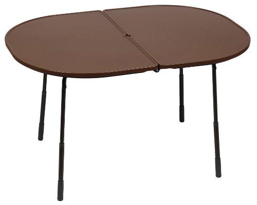 Lafuma ovaler Gartentisch, klappbar und höhenverstellbar