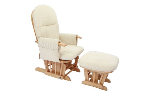 Tutti Bambini Daisy Nursing Glider Chair and Stool (Natural)