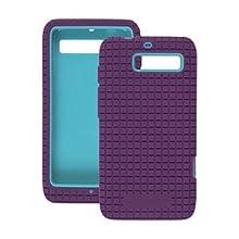 Amzer 94929 Hybrid Snap On Silicone Case - Aqua/ Purple For Motorola RAZR M XT905