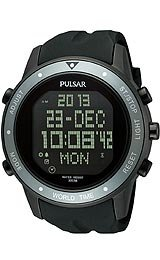 Pulsar Sport Digital Black Dial Men's Watch #PQ2019