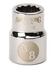 Armstrong 11-114 3/8-Inch Drive 12 Point Standard Socket, 7/16-Inch