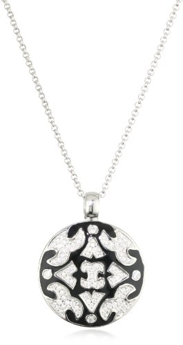 Giorgio Martello Sterling Silver Rhodium Plated Pendant Necklace